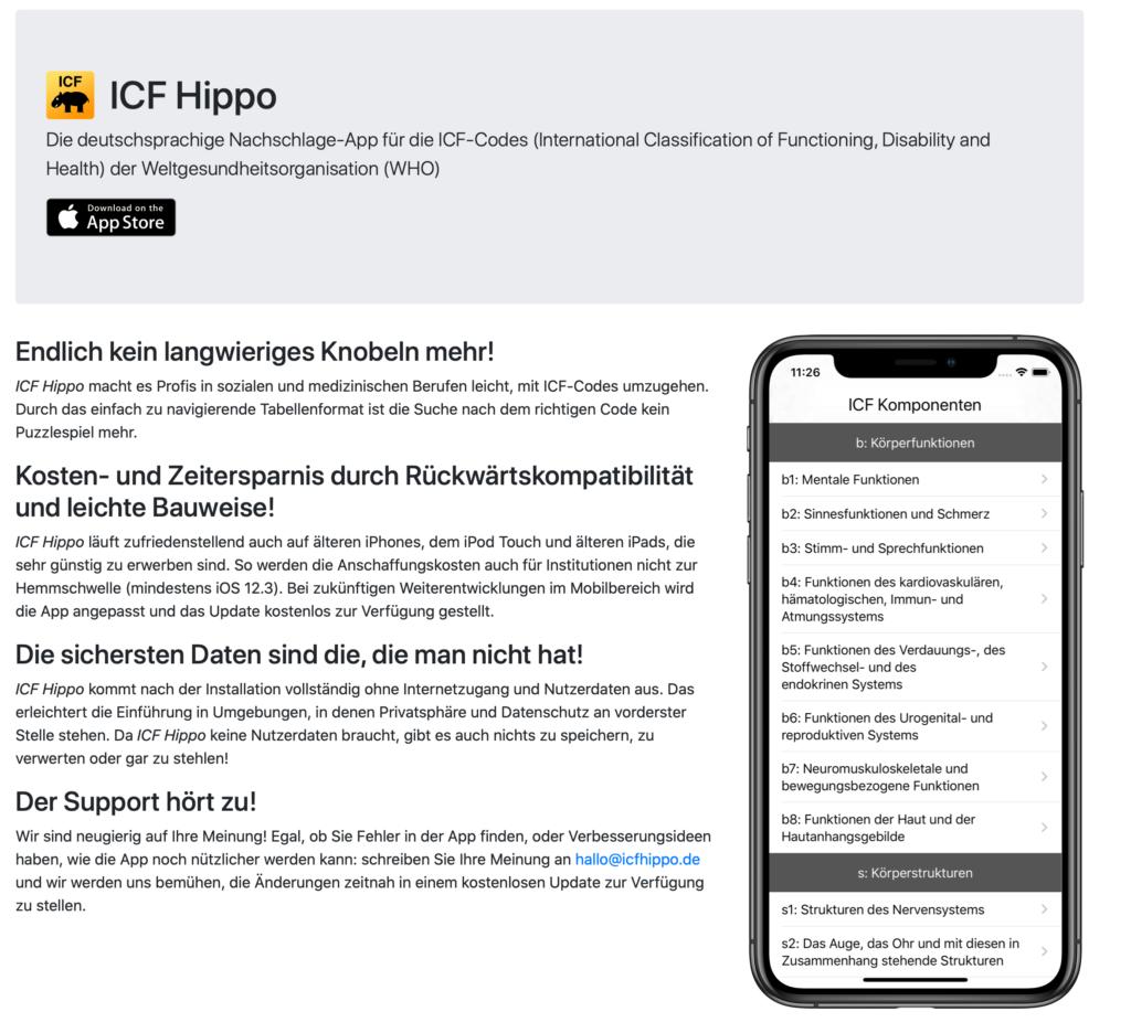 icf hippo Webseite