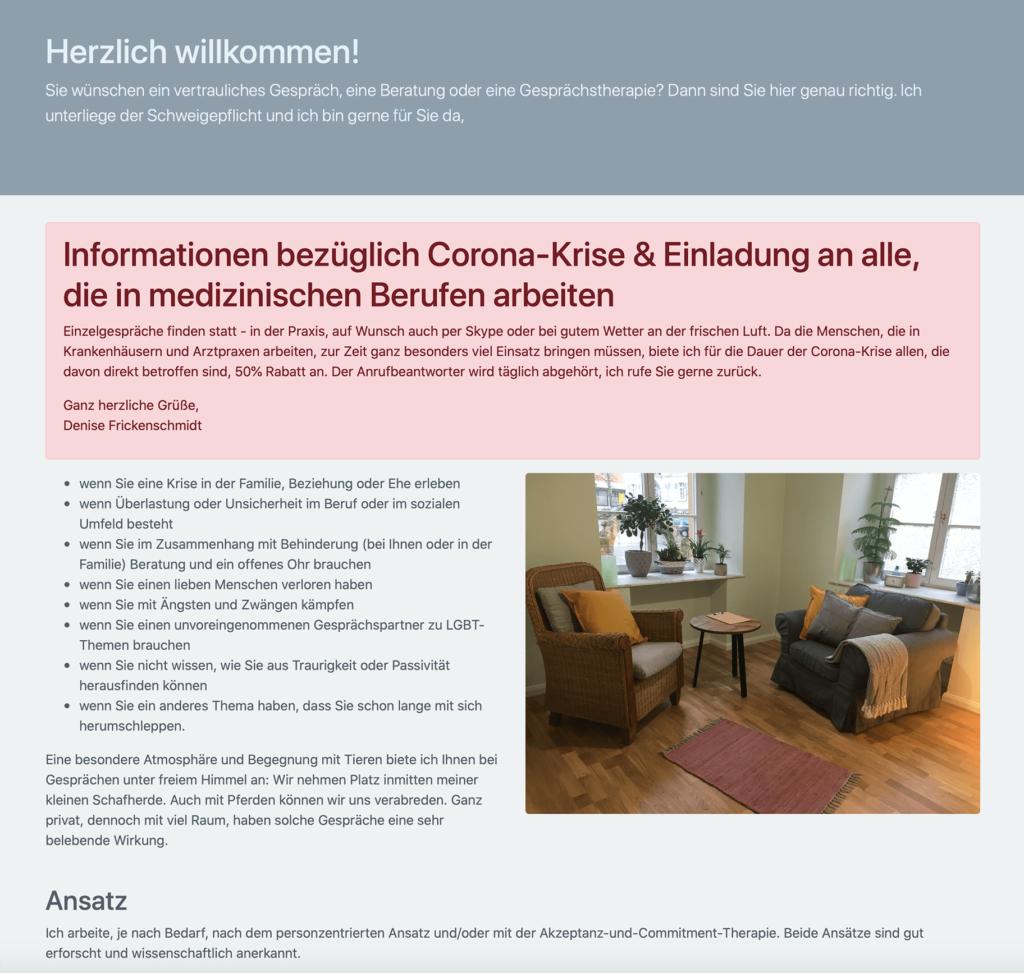Praxis Meisenheim old screenshot